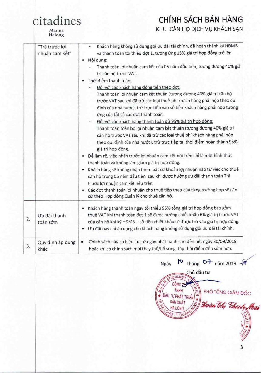 chinh sach ban hang citadines ha long 2