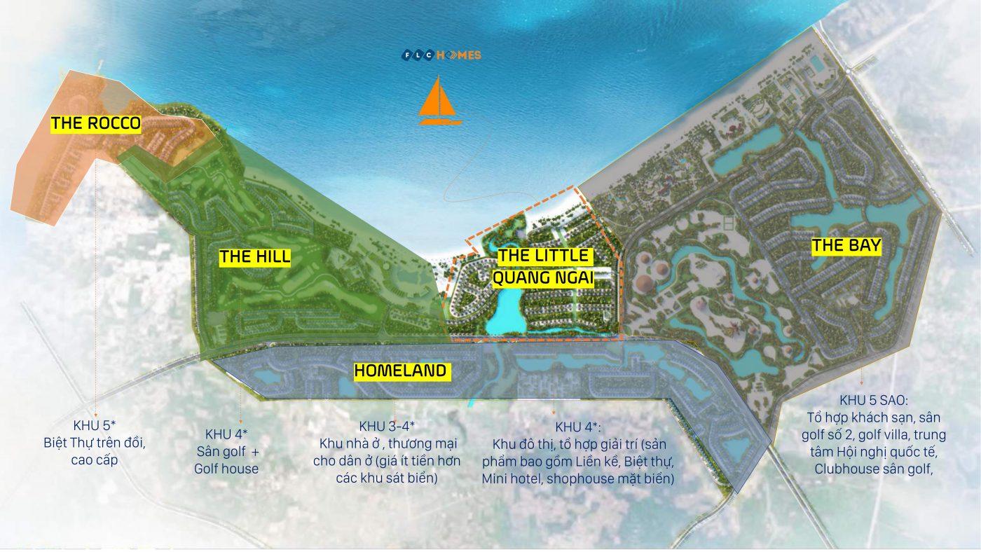 quy hoach tong the du an flc quang ngai Beach & Golf Resort