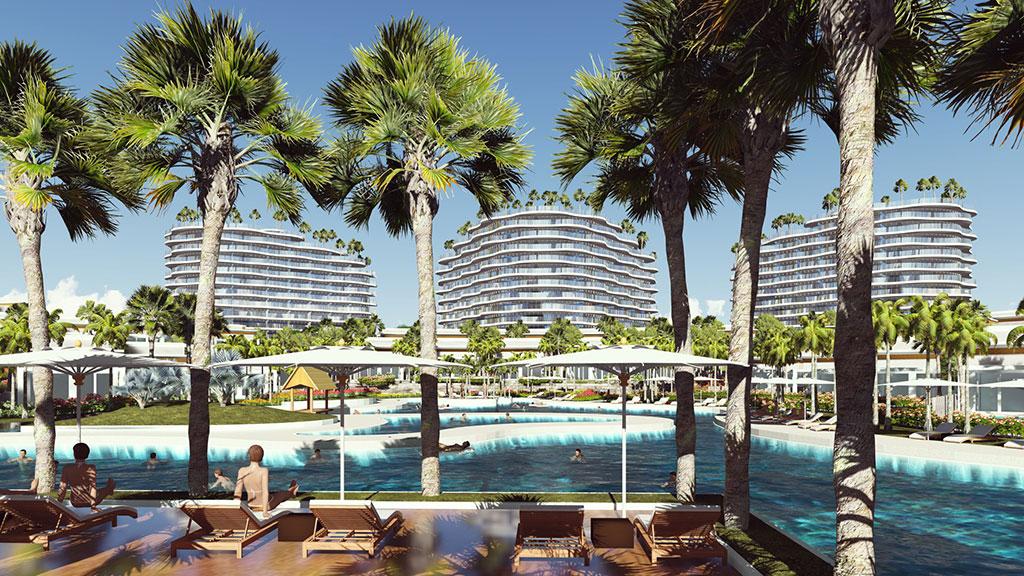 phoi canh condotel shantira beach resort spa hoi an