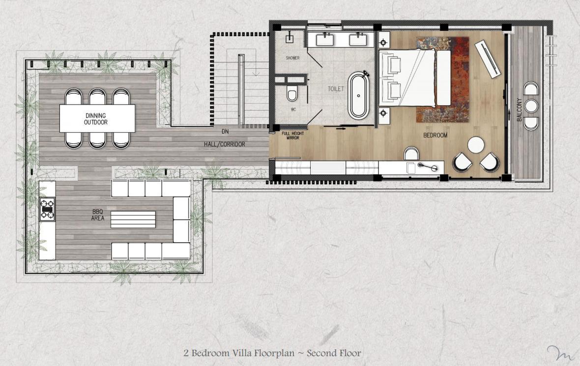 mat bang shantira villas 2pn tang 2