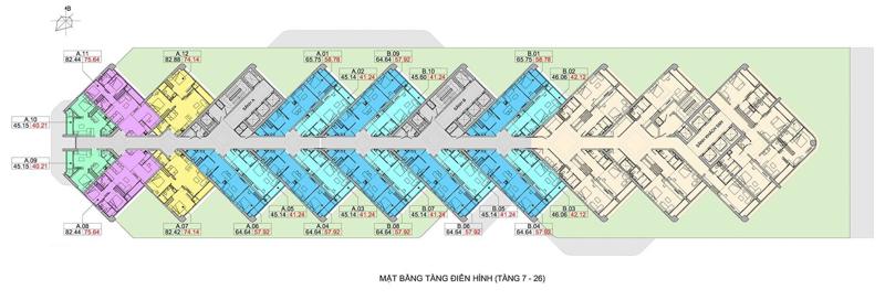 mat bang tang dien hinh Scenia Bay Nha Trang