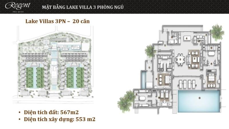 mat bang biet thu lake villa regent phu quoc