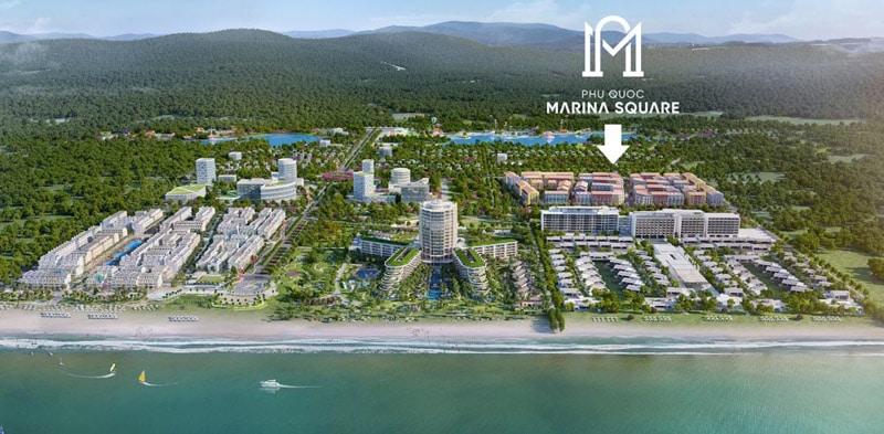 vi tri Phu Quoc Marina Square= trong phu quoc marina