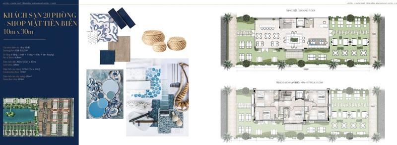 mat bang mini hotel villa shop The Hamptons Ho Tram 10 x 30