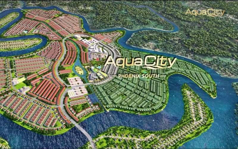 mat bang dao phuong hoang du an aqua city