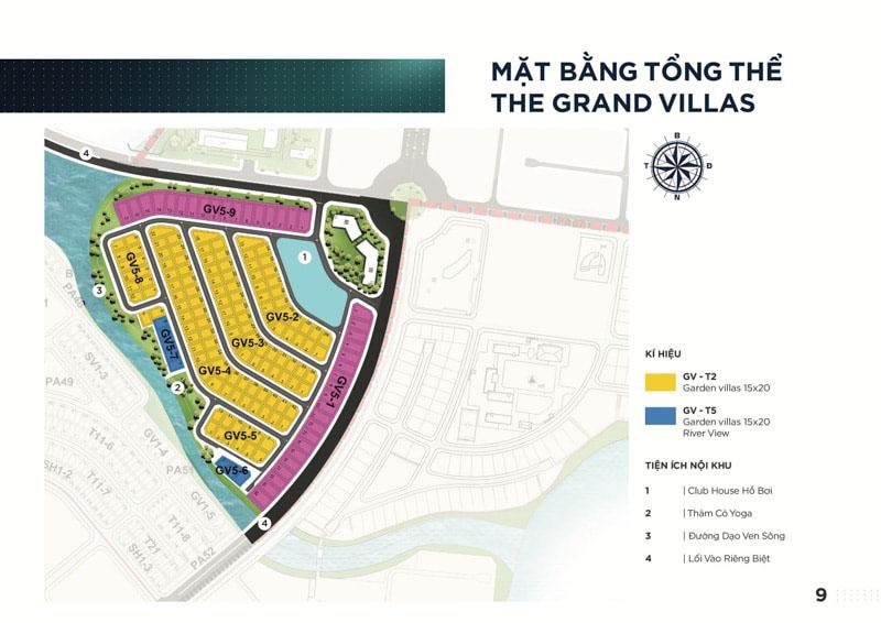 mat bang grand villa aqua city
