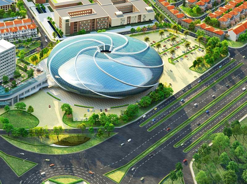 phoi canh aqua arena aqua city