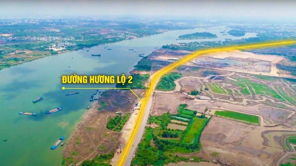 Đường Hương Lộ 2 – Hạ tầng ảnh hưởng lớn nhất đến giá trị Aqua City?