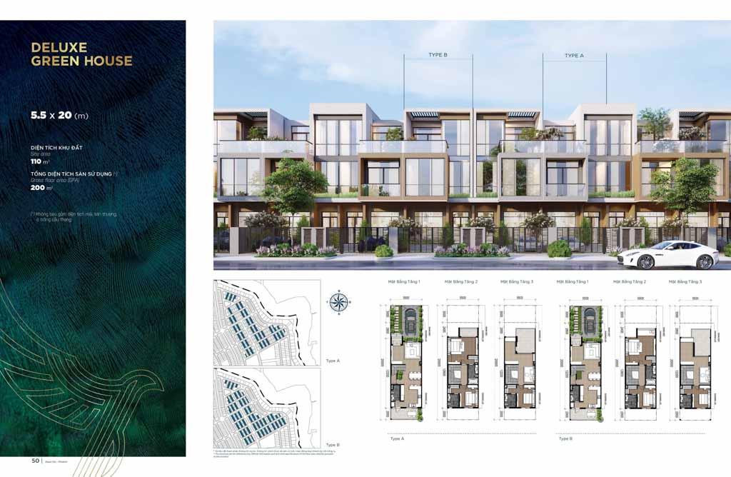 phoi canh nha pho tai dao phuong hoang aqua city
