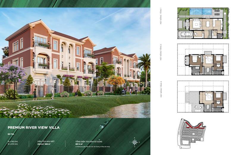 thiet ke villa song river park 1 aqua city