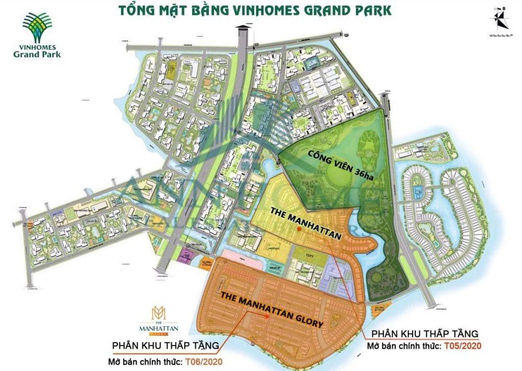vi tri du an the manhattan glory trong vinhomes grand park