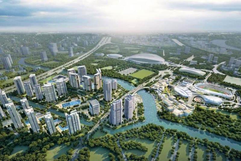 phoi canh du an saigon sports city keppel land