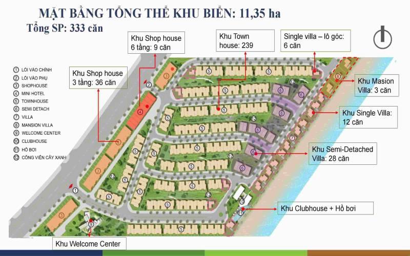 mat bang tong the phan khu happy beach villas