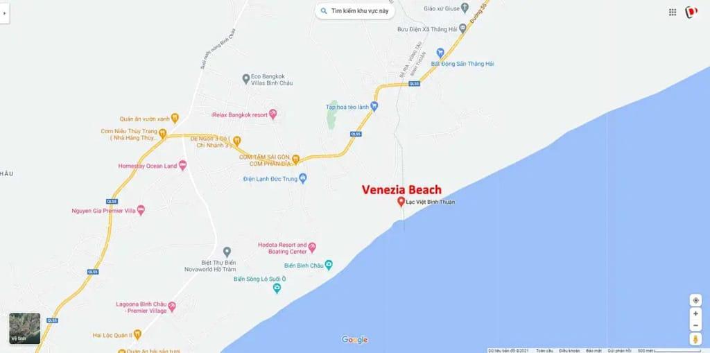 vi tri du an venezia beach