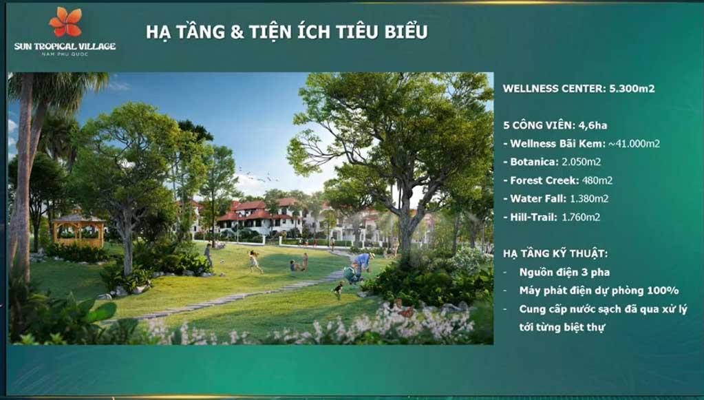 he thong tien ich tai sun tropical village phu quoc