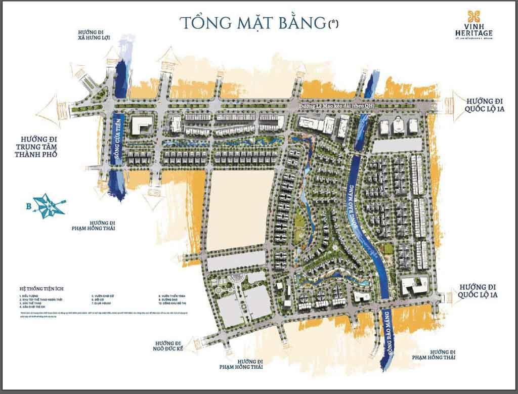 mat bang vinh heritage