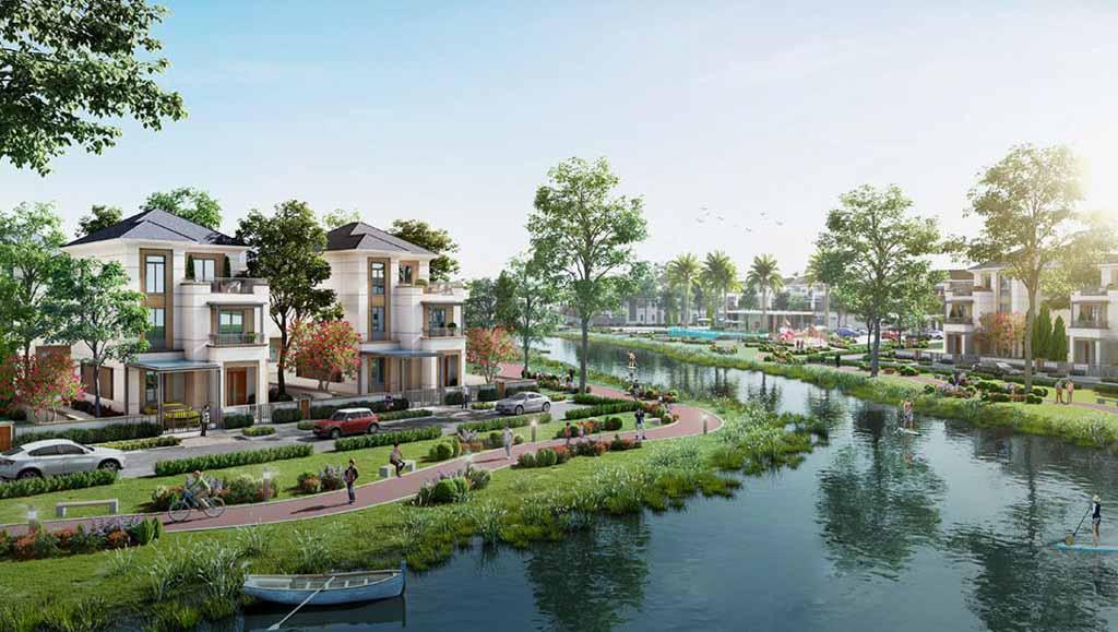 phoi canh biet thu song tai aqua city
