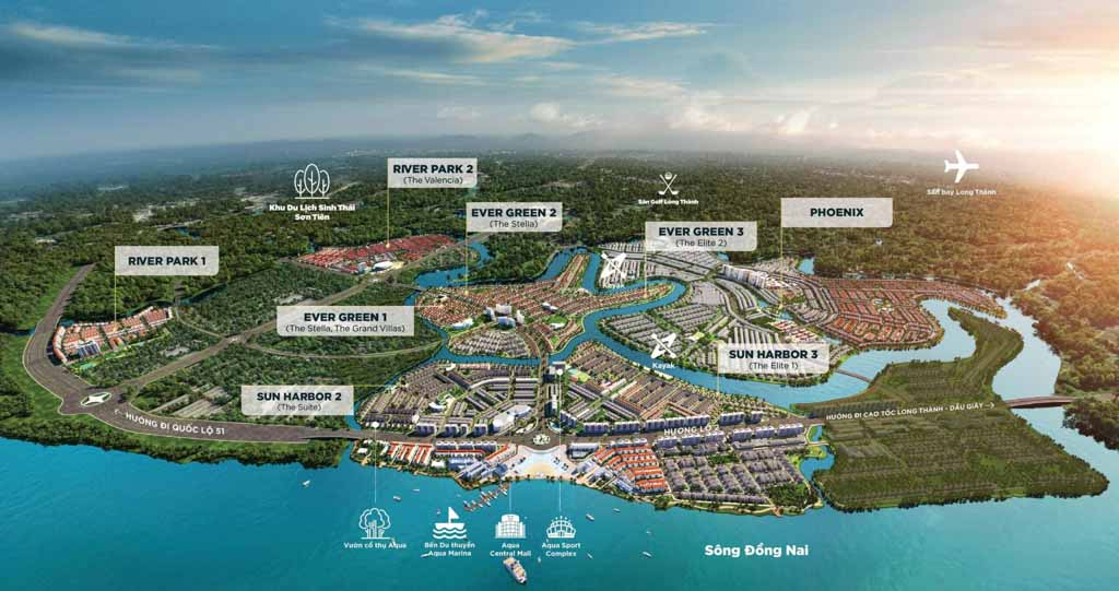mat bang tong the cac phan khu aqua city
