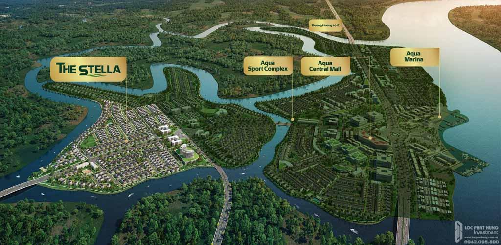 vi tri phan khu the stella aqua city