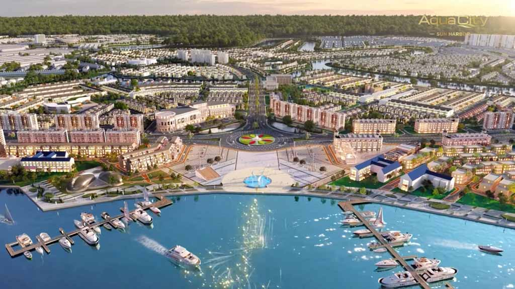 phoi canh biet thu sun harbor 1 aqua city