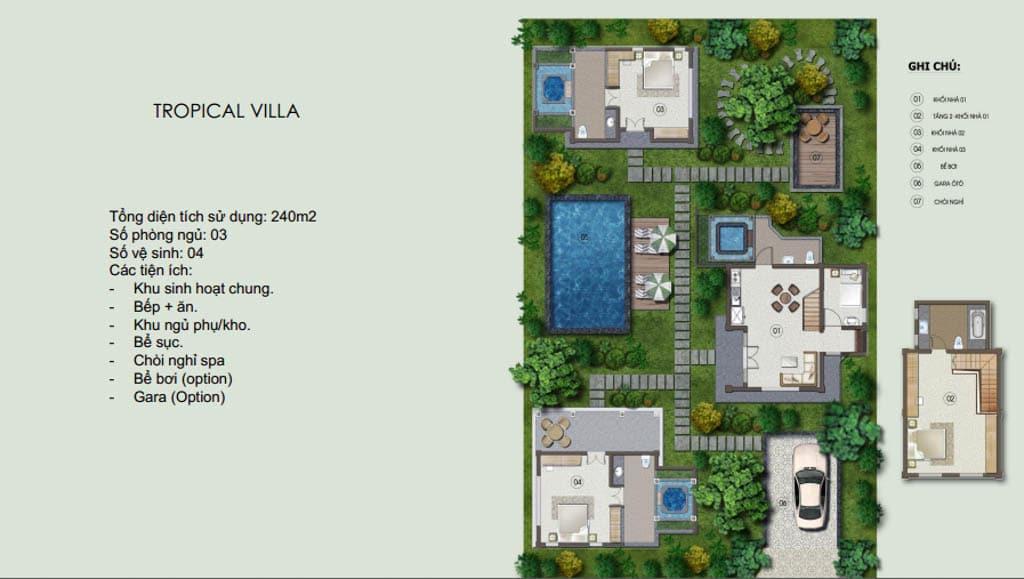 tropical villa vien nam resort